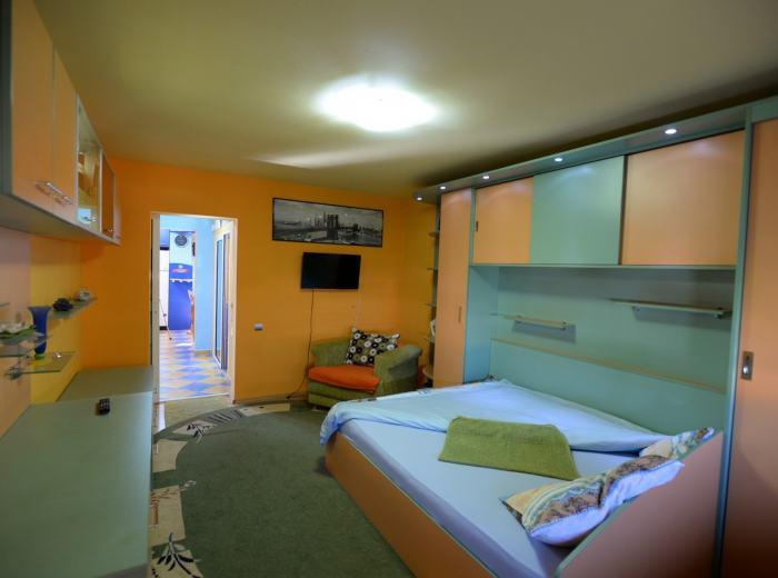Vacation flat rentals Timisoara, Vidican air conditioner bedroom (D1)