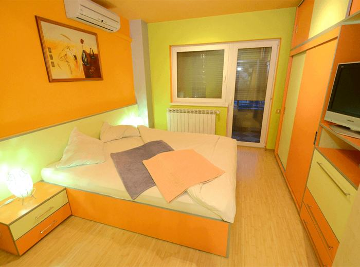 Vacation apartment 2 rentals in Timisoara with air conditioner, second bedroom (D2)
